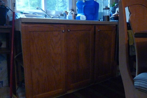 cabinet doors on