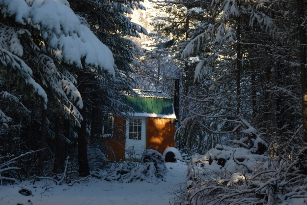 Winter settling on the mountain
