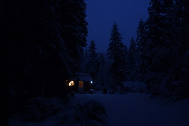 The Little Cabin at dusk 12/29/14